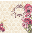 Vintage Poppy Background vector image vector image