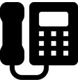 wall phone vector image vector image