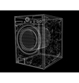 washing machine simbol vector image vector image