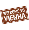 welcome to vienna stamp vector image vector image