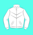 white sports jacket with black contours of vector image
