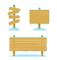 Winter Wooden Boards vector image vector image