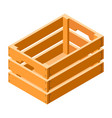 wood crate icon isometric style vector image vector image