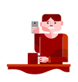 young man taking selfie vector image vector image