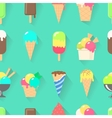Ice cream collection seamless pattern vector image