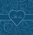 Card or invitation of hearts for any holiday vector image