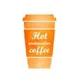 Watercolor tea or coffee cup vector image