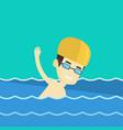 man swimming vector image