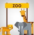 zoo animals design vector image