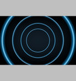 abstract background with blue neon circles speed vector image