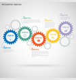 abstractbstract info graphic with design flat gear vector image vector image