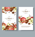 apple banner vector image vector image