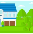 Background of cottage in forest vector image vector image