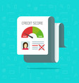 bad credit score report flat vector image vector image