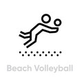 beach volleyball sport icons vector image