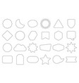 black line empty random shapes frames icons set vector image vector image