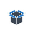 box related glyph icon vector image vector image