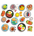 breakfast isolated set vector image vector image