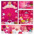 bridal nuptials save date wedding day couple vector image vector image
