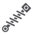 car spring glyph icon auto and repair absorber vector image