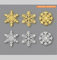 christmas decoration set golden and silver vector image vector image