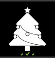 christmas tree it is white icon vector image vector image