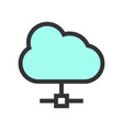 cloud computing icon high-tech topic vector image