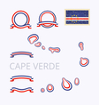 Colors of Cape Verde Cabo Verde vector image vector image