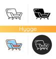 comfy armchair icon vector image