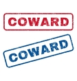 Coward Rubber Stamps vector image vector image