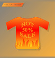 discount bannert-shirt with vector image