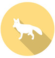 dog icon with a long shadow vector image vector image