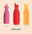 dresses isolated on background vector image vector image