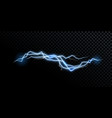 electricity lightning thunderbolt realistic vector image vector image