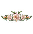 english peachy roses with other flowers bouquet vector image vector image