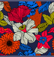 exotic seamless in bright colours vector image vector image