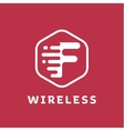 f letter logo for wireless business flat vector image vector image