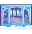 Fairytale Ice Palace Ballroom vector image vector image