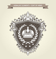 Family coat of arms - heraldic shield with crown vector image vector image