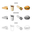 fast meal eating and other web icon in cartoon vector image vector image