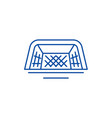 foot gates line icon concept foot gates flat vector image
