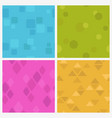funny colorful seamless pattern set vector image vector image