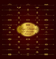 golden page dividers and ornamental elements vector image vector image