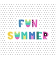 Hand drawn phrase in summer style vector image vector image