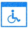 Handicapped Calendar Page Grainy Texture Icon vector image vector image
