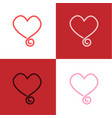 heart sign icon background vector image vector image