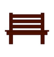 isolated wooden bench icon vector image