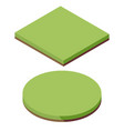 isometric grass land texture icon field landscape vector image