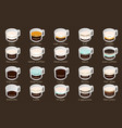 isometric infographic with coffee types vector image vector image