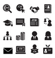 job icon set vector image vector image